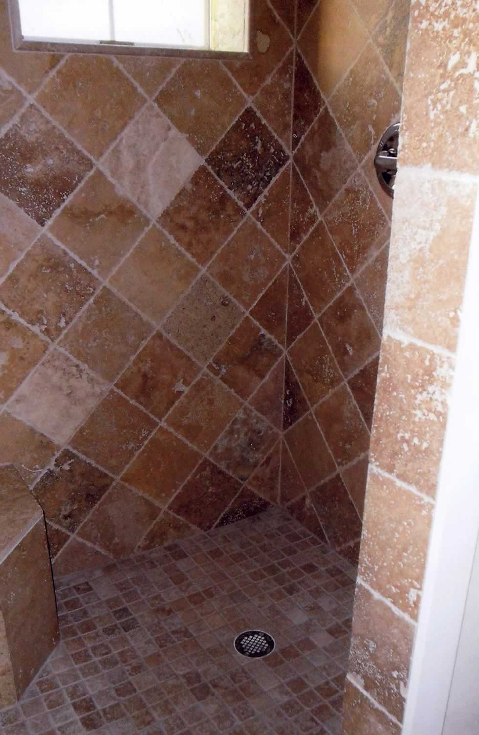 ceramic tiled shower